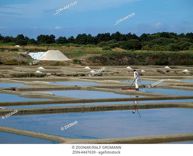 Salzgewinnung mit Meerwassersalinen in Frankreich