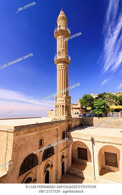 Turkey , Eastern Turkey , Mardin , 14th Century Minaret of Sehidiye Camii