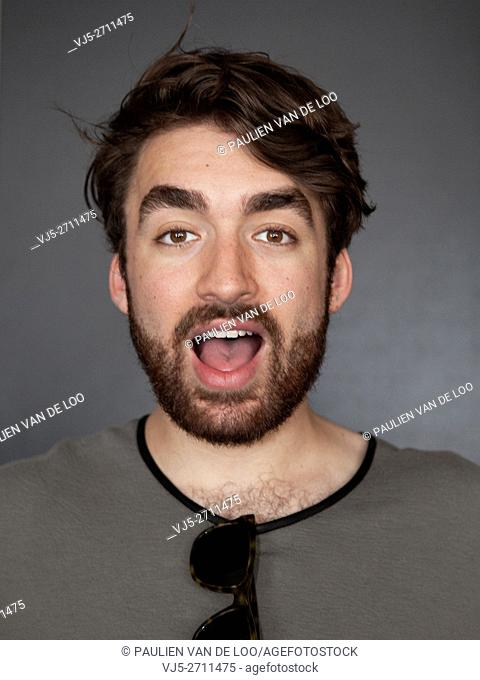 Eindhoven, Netherlands, Portrait of dj Oliver Heldens just before his performance at The Flying Dutch Eindhoven