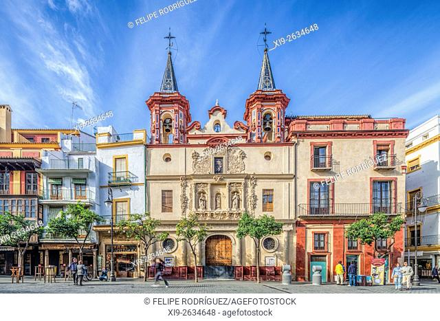 Church of the former Hospital of San Juan de Dios, El Salvador square, Seville, Spain