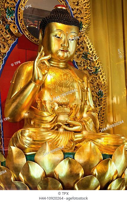 Asia, China, Hong Kong, Lantau, Buddhism, Buddhist, Taoism, Taoist, Religion, Po Lin Monastery, Po Lin, Monastery, Buddha, Statue, Buddha, Statues, Ngong Ping