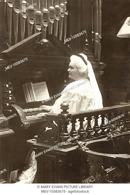 Queen Elisabeth of Romania (1843 - 1916), formerly Elisabeth of Wied, wife of King Carol I of Romania. Also known by her nom de plume of Carmen Sylva