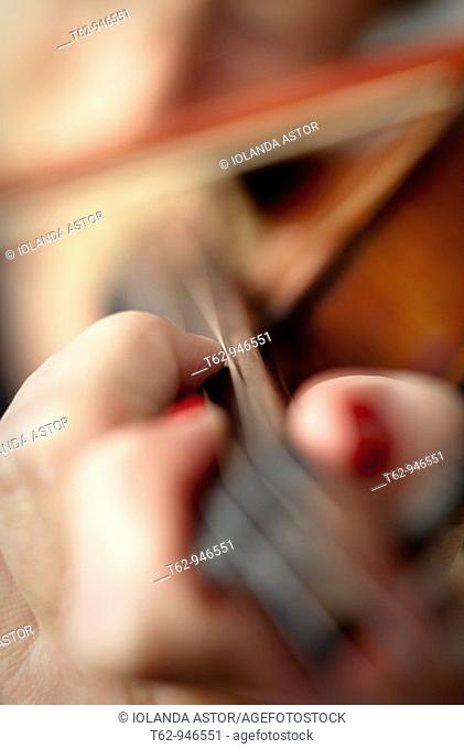Violinist playing music  Violin  Color