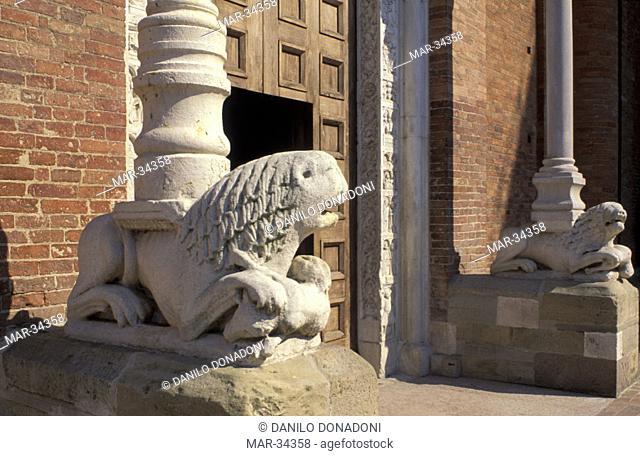 details of abbey, nonantola, italy