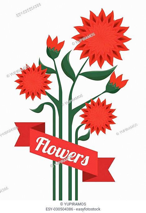 beautiful flowers decoration background vector illustration design
