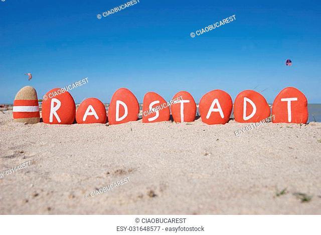Radstadt, county of Salzburg, souvenir on stones