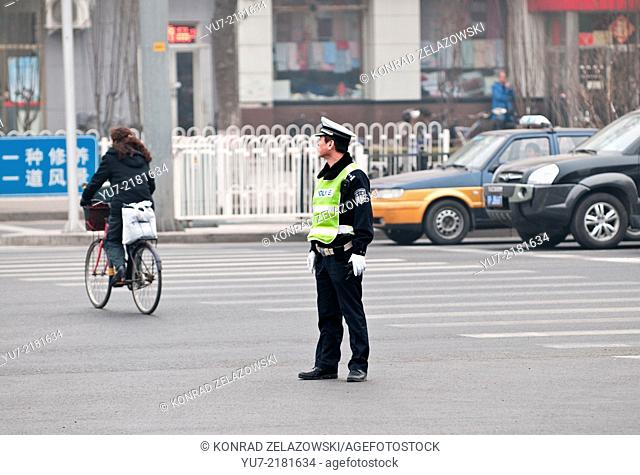 Police officer in Beijing, China