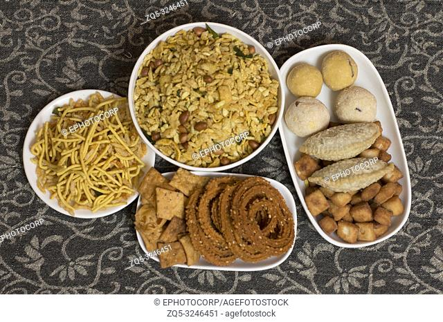 Diwali Indian food snacks and sweets
