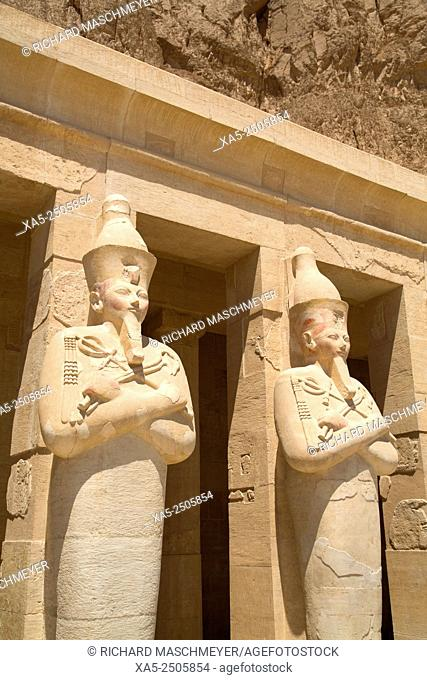 Statues of Osiris, Deir-el-Bahri (Hatshepsut's Temple), West Bank, Luxor, Egypt