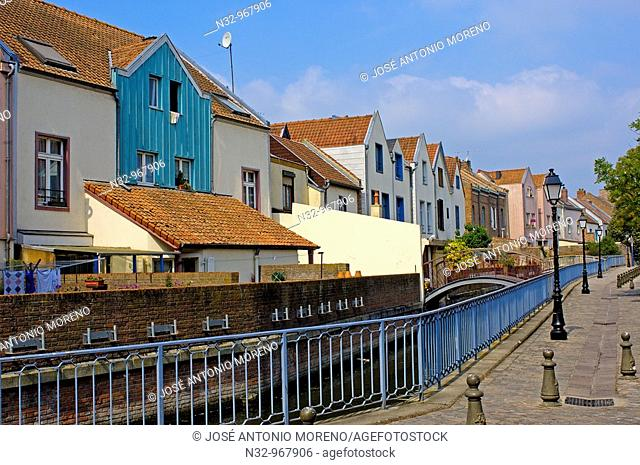 Saint Leu neighbourhood, Amiens. Somme, Picardy, France