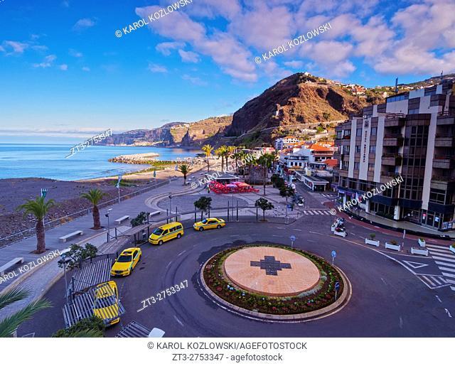 Portugal, Madeira, View of the Ribeira Brava.