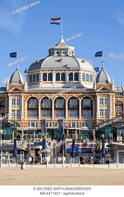 Spa hotel on beach, Scheveningen, The Hague, Holland, Netherlands