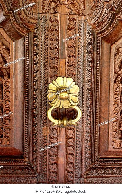 TRADITIONAL CARVED DOOR OF SOUTH INDIA
