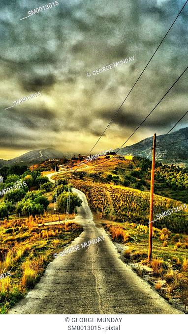 The Road to the Mountains near Nerja,. Costa del Sol,. Malaga Province, Andalucia, Spain