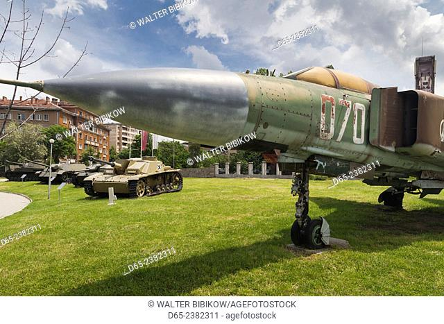 Bulgaria, Sofia, Outdoor Park by the National Museum of Military History, Soviet Mig-23 jet fighter