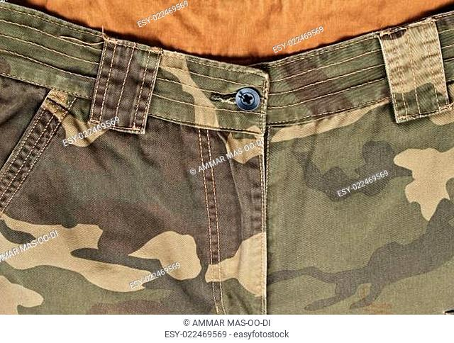 Camouflage pants with its pockets