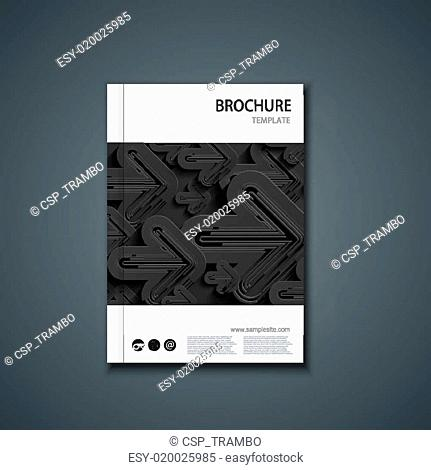 Vector flyer or banner. Brochure template