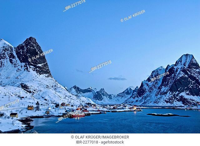 Reine, island of Moskenesøya, Moskenesoya, Lofoten Islands, Northern Norway, Norway, Europe