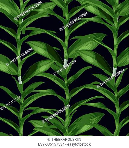 tropical leaves seamless pattern. Vector illustration