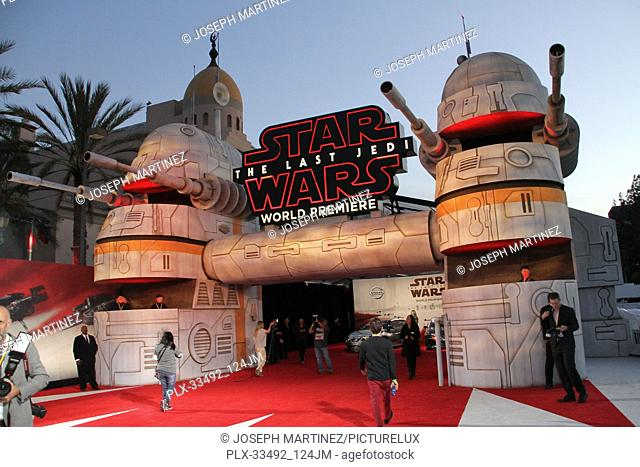 """Atmosphere at the World Premiere of Lucasfilm's """"""""Star Wars: The Last Jedi"""""""" held at the Shrine Auditorium in Los Angeles, CA, December 9, 2017"""