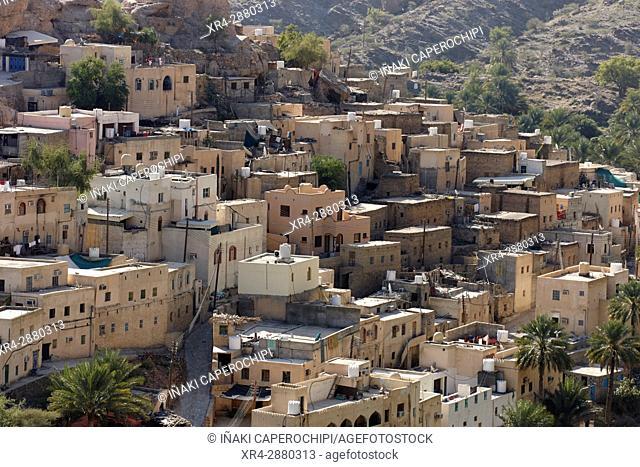 El pueblo de Bilad Sayt Wadi Bani Awf, Oman
