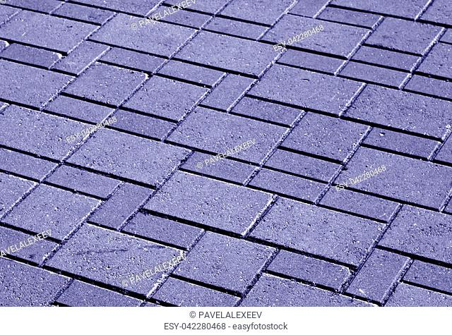 Blue color pavement pattern with blur effect. abstract urban background and texture