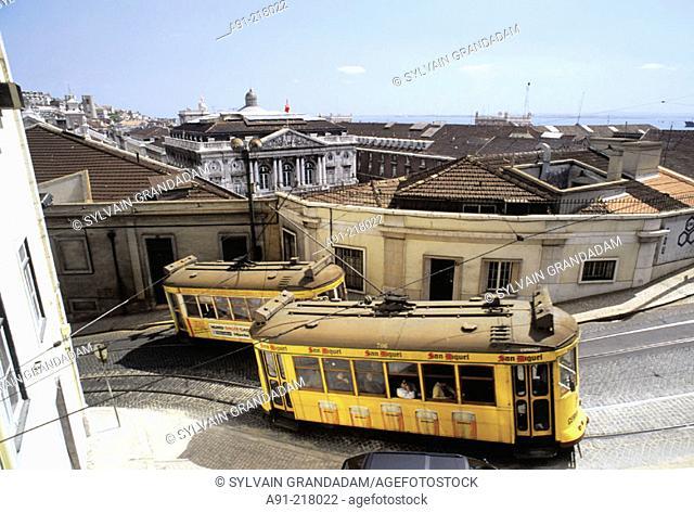 Trams. Lisbon. Portugal
