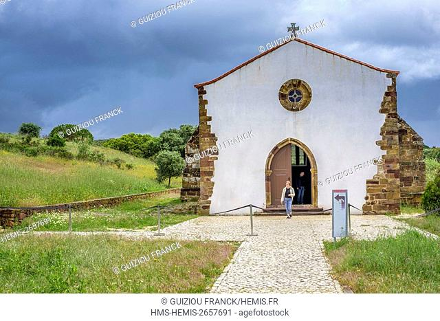 Portugal, Algarve region, Southwest Alentejo and Vicentine Coast Natural Park, Nossa Senhora de Guadalupe cahpel where Infante Dom Henrique came and prayed