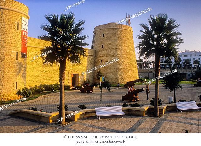Santa Ana Castle, Roquetas de Mar.Almeria province, Andalucia, Spain