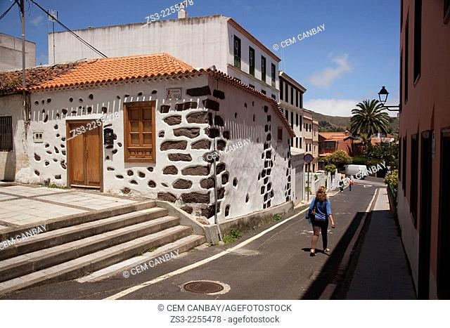 Traditional Canarian house, San Cristobal de la Laguna, Tenerife, Canary Islands, Spain, Europe