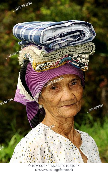 Woman in village, Bukittingi, Sumatra, Indonesia