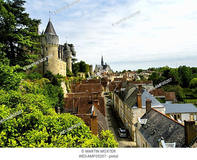 France, Montresor, view to Montresor Castle and city from above