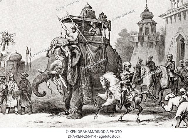 Nana Sahib leaving Lucknow for Cawnpore in 1857
