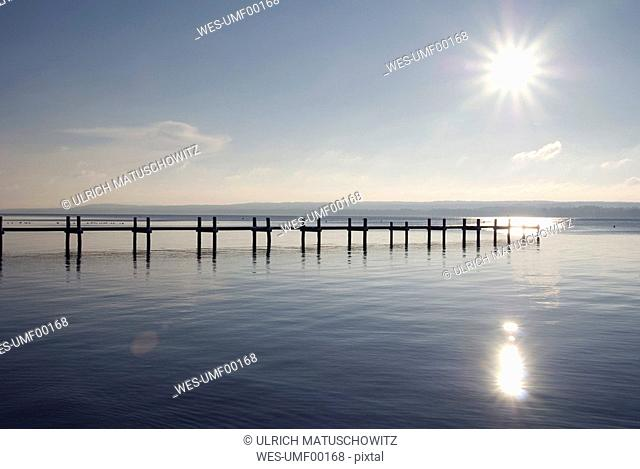 Germany, Bavaria, Ammersee, landing stage