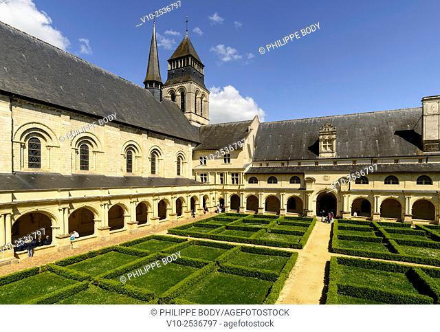 France, Anjou, Maine et Loire, Fontevraud l'Abbaye, Loire Valley on World Heritage list of UNESCO, Abbey of Fontevraud, dated 12 - 17 th