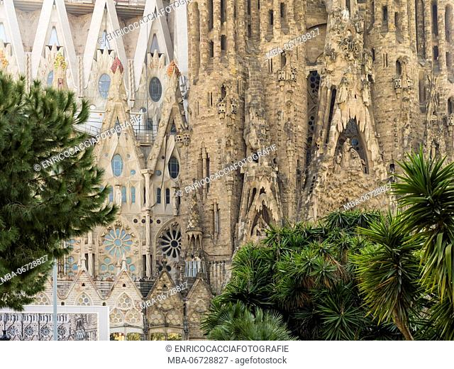 Sagrada Familia in Barcelona, partial view