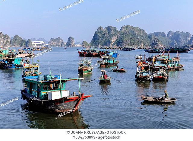Halong Bay, Vietnam, Indochina, Asia