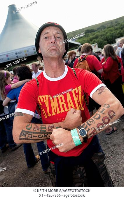 A tattooed welsh man at the National Eisteddfod of Wales, Ebbw Vale 2010