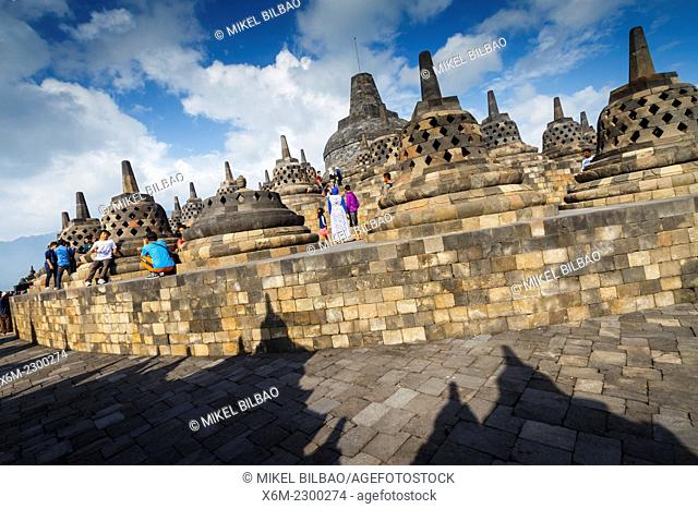 Borobudur buddhist temple. Magelang, Java. Indonesia, Asia