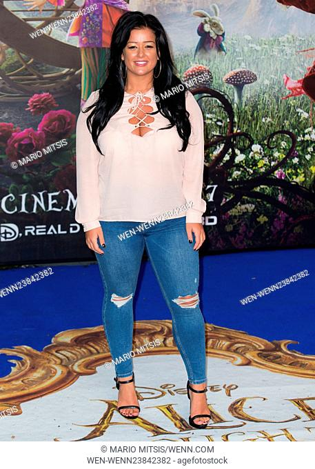 The European Premiere of 'Alice Through The Looking Glass' held at the Odeon Leicester Square - Arrivals Featuring: Lauren Murray Where: London