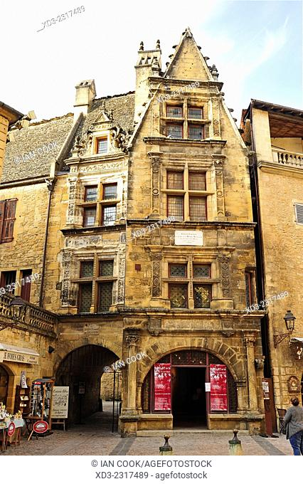 Etienne laBoetie House, Rue Montaigne, Sarlat-la-Caneda, Dordogne Department, Aquitaine, France