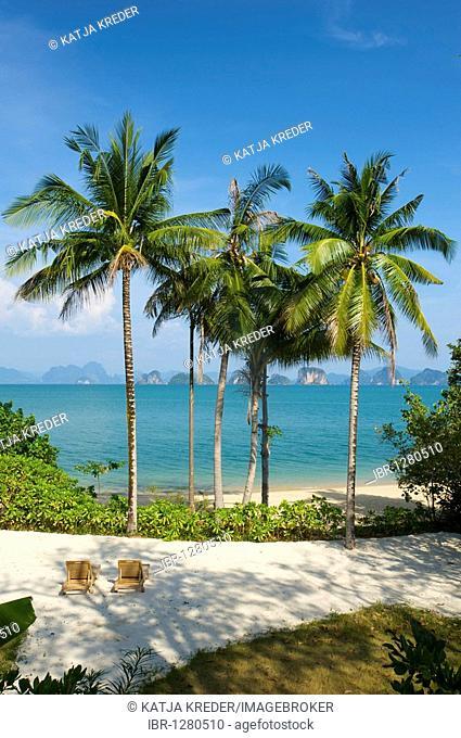 Luxury hotel, Evason Six Senses Hideaway on Yao Noi island near the island of Phuket, Phang Nga Bay, Thailand, Asia