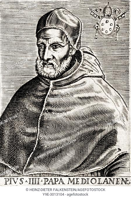"""Pope Pius IV, 1499 â. """"1565, born Giovanni Angelo Medici, Pope from 25 December 1559 to his death in 1565"""