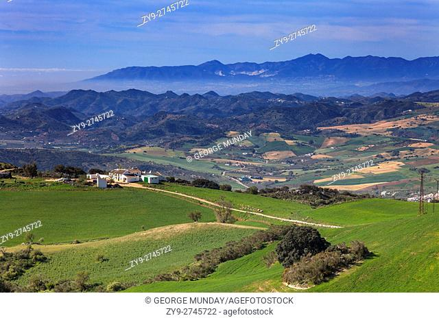 Landscape from Torcal de Antequera National Park,. Andalucia, Spain