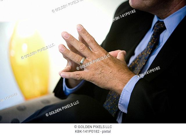 Close up of a businessman's hands
