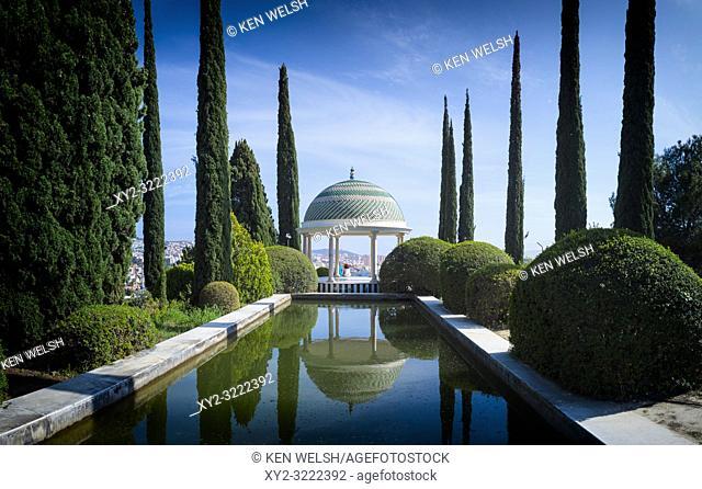 Malaga, Costa del Sol, Malaga Province, Andalusia, southern Spain. El Jardín Botánico - Histórico La Concepción. La Concepcion Historical-Botanical Gardens