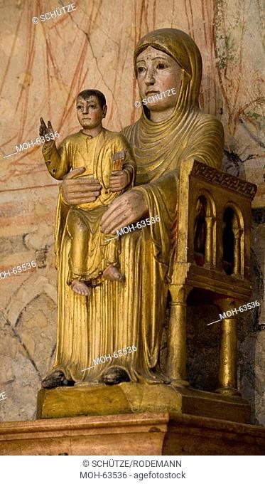 Thronende Muttergottes mit Kind: Notre-Dame-le-Brune, 2. Hälfte 12. Jahrhundert