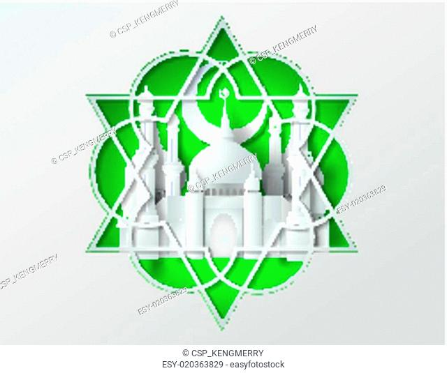 Vector of paper Mosque