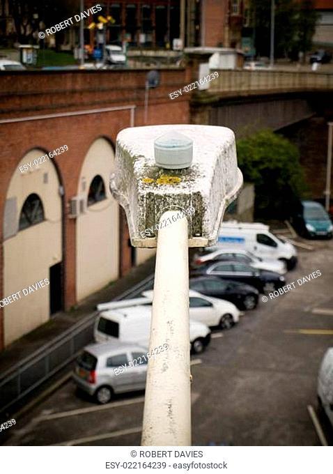 Streetlamp over Car Parking Lot