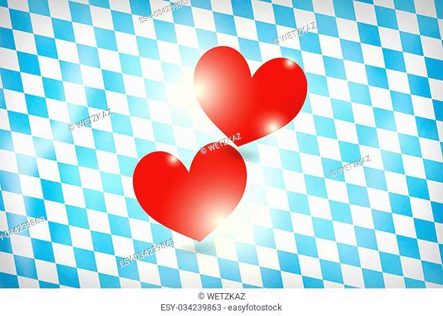 Bavaria Oktoberfest red hearts